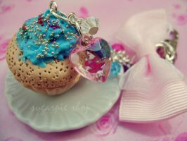 GIRLIE CUPCAKE KEYRING by OrdinaryThing