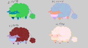Cloud cow free adoptables set 4 SOLD by Feendra13