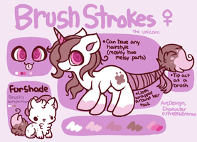 :Brush Strokes Reference Sheet: by PrePAWSterous