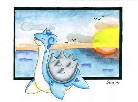 Lapras - Sunrise by Loekazz