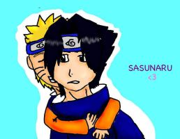 my first sasunaru by HeartBrokenWolf123
