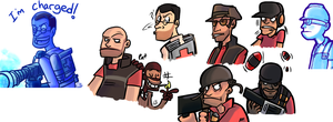Tf2 coloured doodles by RKPiratedrawer