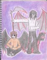 Evil angel and Demon Death by KaylaCullen