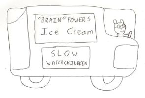 Brain Powers Ice Cream Truck by dth1971