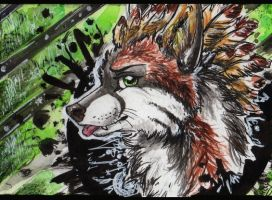 ACEO: HowlingWolfSong by Cally-Dream