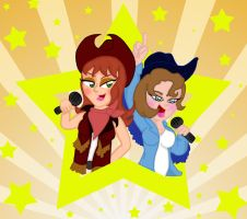 crooning cowgirls by blue-shadow24