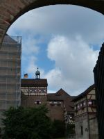 Outer court of the castle in Nuremberg by andersvolker