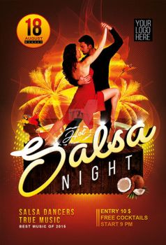 Salsa Night flyer and poster by iorkdesign