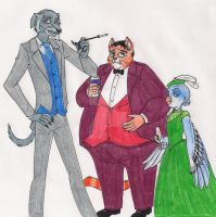 Liam, Percy, and Brunhilda by 13foxywolf666