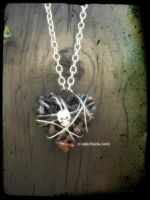 OOAK Goth Skull Heart FOR SALE by Little-Psycho-Lilith