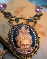 Steampunk inspired Calypso cameo. by slinkskull