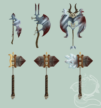 Weapon Concepts by Snorkelhead