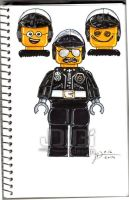LEGO BadCop GoodCop Scribble-Face Cop - 021614 by J-Dubi
