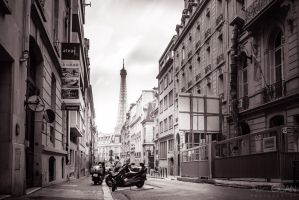 A street in Paris by sican