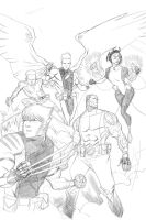 Family X-men Commission WIP by TheAdrianNelson