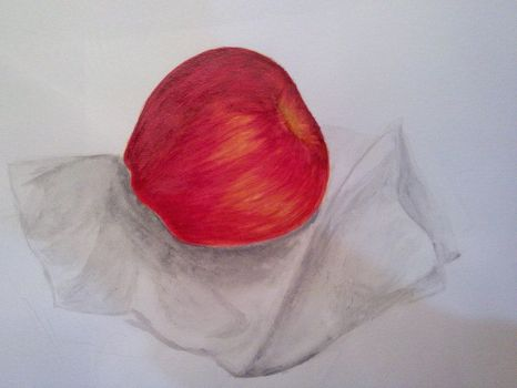 first time trying water color, drawing realistic by KakuDaisuki