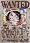 Luffy's wanted poster by Sh1roYasha