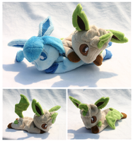 Leafeon Beanie Plush by FollyLolly