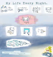 Cat's Story #2: My Life Every Night. by beyourpet