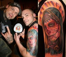 La Catrina 1th Place Color by 2Face-Tattoo