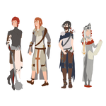 CC Characters - WIP by agent-mcmuffin