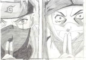 kakashi and zabuza by inuyasha666hiei