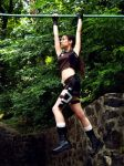 Lara Croft - On the culvert by TanyaCroft