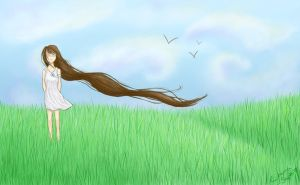 Waiting in a Field of Dreams by Emma-Sophie
