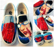 Painted Vans: Doctor by Mikandii