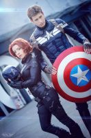 Avengers - Black Widow - Captain America - Marvel by ShashinKaihi