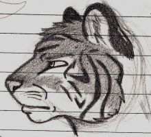Tiger Anthro Bust by HalfWayNormal