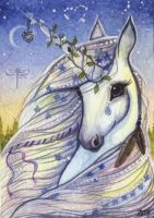ACEO Angel Eyes by DawnUnicorn