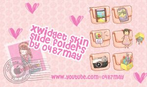 slide folders, Xwidget skin by may0487