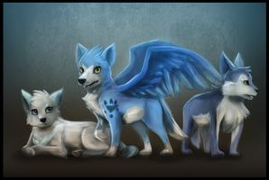 CE-Blue and Chill pups by RoboticMasterMindX