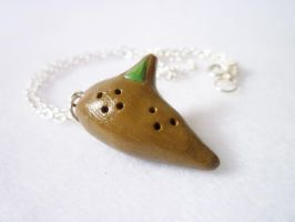 Fairy Ocarina Necklace by meh-anne
