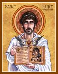 St. Luke the Evangelist icon by Theophilia