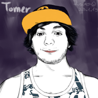 Painted Portrait - Tomer by LilachSigal