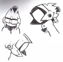 FLCL Sketches: Canti by domino626