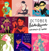 OCTOBER palette requests by ochibrochi