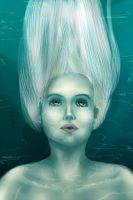 Woman Underwater by Samouselee