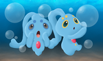 Manaphy and Phione by knuxrocks28