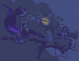 Zandar Skonk meets with the unexpected on a walk t by bimshwel