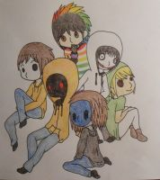 The CreepyPasta Boys by HappyKonny