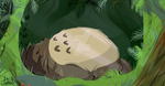 Sleeping in the Forest by mirry92