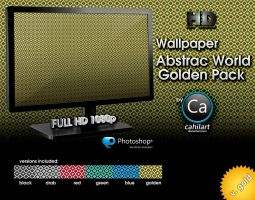 Wallpaper Golden Pack Abstrac World by CaHilART