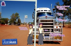 Up Close (and Personal) Meeting of a Road Train! by daanton