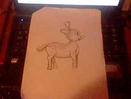 Reindeer for my art in school :3 by ZeldaLink655