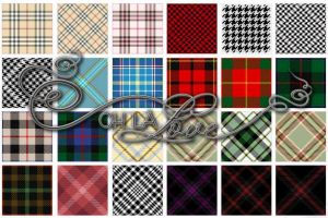 Tartan and houndstooth by ohlalove