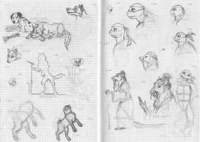 Sketches 777-793 by BillieJean485