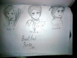 Old sketch 2013 - The beautiful Roses by mahura97